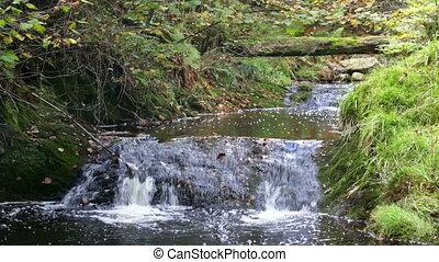 Mountain River Waterfall