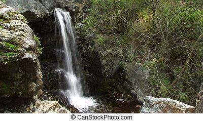 Mountain River. Waterfall