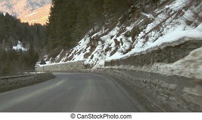 Mountain road 03 - Mountain road time-lapse