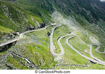 Mountain road - Dangerous road in Transfagarasan from...