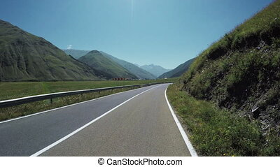 Mountain road from bike