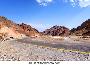 mountain road in Israel