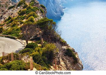 Mountain road in Mallorca, Spain