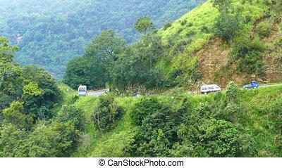 mountain road in Sri Lanka