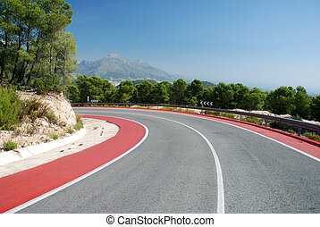 Mountain road in the Spanish Sierra Nevada
