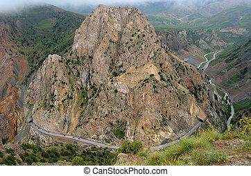 Mountain Road, Iran - Mountain Road of Southern Iran, Alborz...