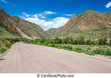 Mountain road, Kyrgyzstan