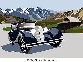 Mountain road - vector
