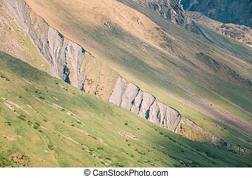 Mountain Rock Natural Background. The varied mountain landscape in Georgia