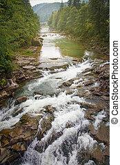 mountain rock river