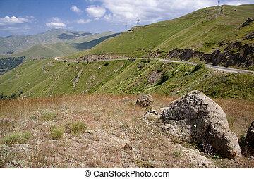 Mountain route in Armenia
