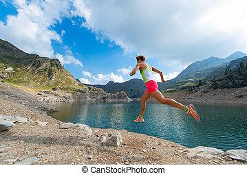 Mountain Running Girl
