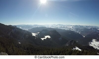 Mountain scene in winter