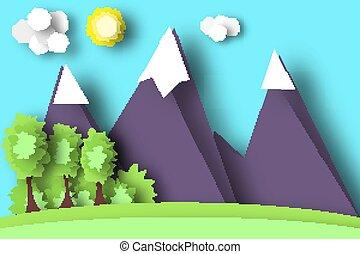 Mountain Scene Paper World.