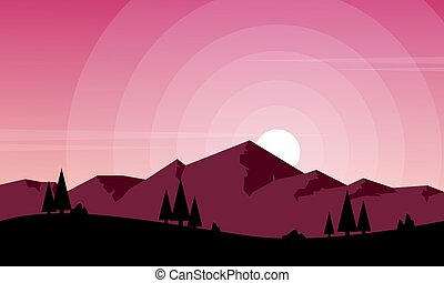 Mountain scenery for game background