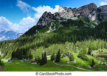 Mountain scenery in the Alps, Achensee Area, Tirol, Austria