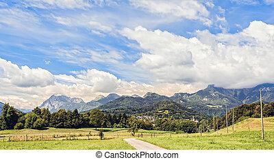 Mountain scenery in the Alps of friuli, Italy
