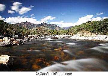 Mountain scenics, wilderness scene in central Bhutan. I love long exposures!