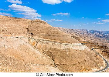 mountain serpentine road, Jordan - mountain serpentine...