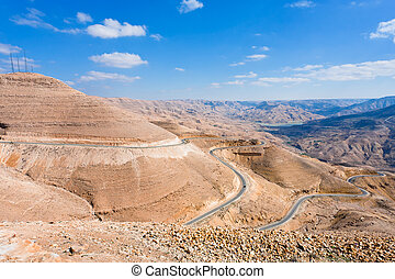 mountain serpentine road, Jordan