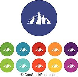 Mountain set icons