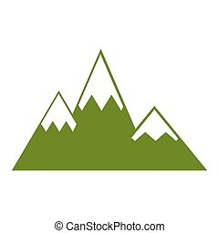 mountain silhouette isolated icon vector illustration design