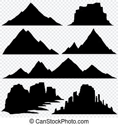 Mountain silhouette vector skyline panoramic view
