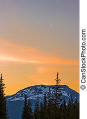 Mountain Silhouettes at Sunrise