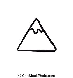 Mountain sketch icon.