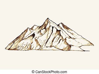 Sketch illustration of a mountain