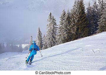 Mountain ski resort Austria - nature and sport background