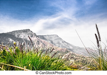 mountain sky and land landscape