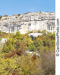 mountain slope of gorge mariam-dere in Crimea in autumn