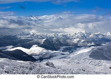 mountain snow landscape view