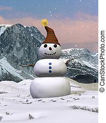 Mountain Snowman