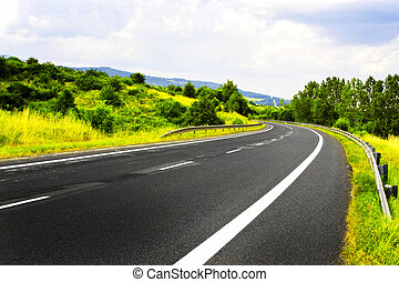 Mountain spring road
