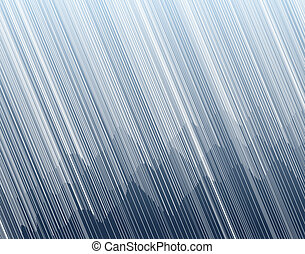 Mountain storm - Illustration of torrential rain in a ...