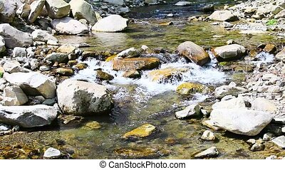 Mountain stream cascades - Cascades on a mountain stream