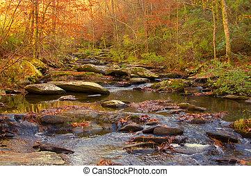 Mountain Stream - Mountain stream and waterfall