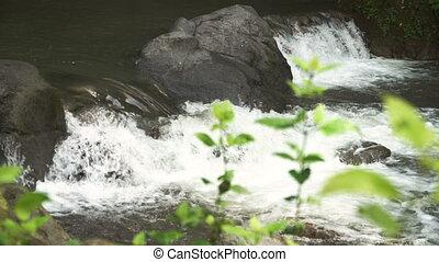 Mountain stream river. - Mountain river. Stones and mountain...