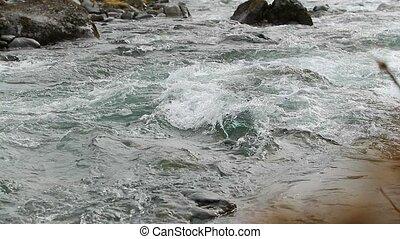 Mountain stream slow motion