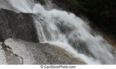 mountain stream - rapid mountain stream flowing over rocks