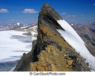 Mountain summit ridge - Mount St. Nicholas summit ridge I,...