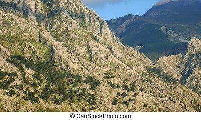 Mountain sun day in Montenegro.