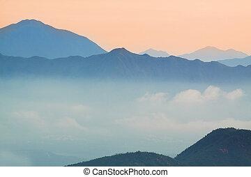 Mountain Sunrise in hong kong