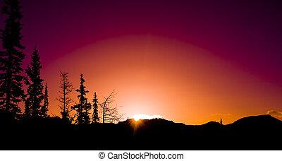 Mountain Sunrise silhouettes