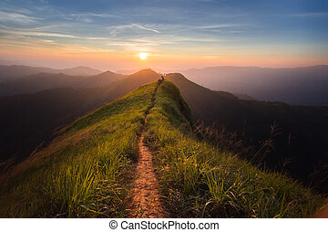 mountain - The way of climax. Mountain slope have a way for...