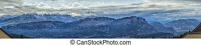 Mountain Tops. Photo Stitch Panorama