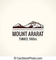Mountain tourist vector logo. Emblem Mount adventures...