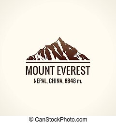 Mountain tourist vector logo. Emblem Mount adventures...